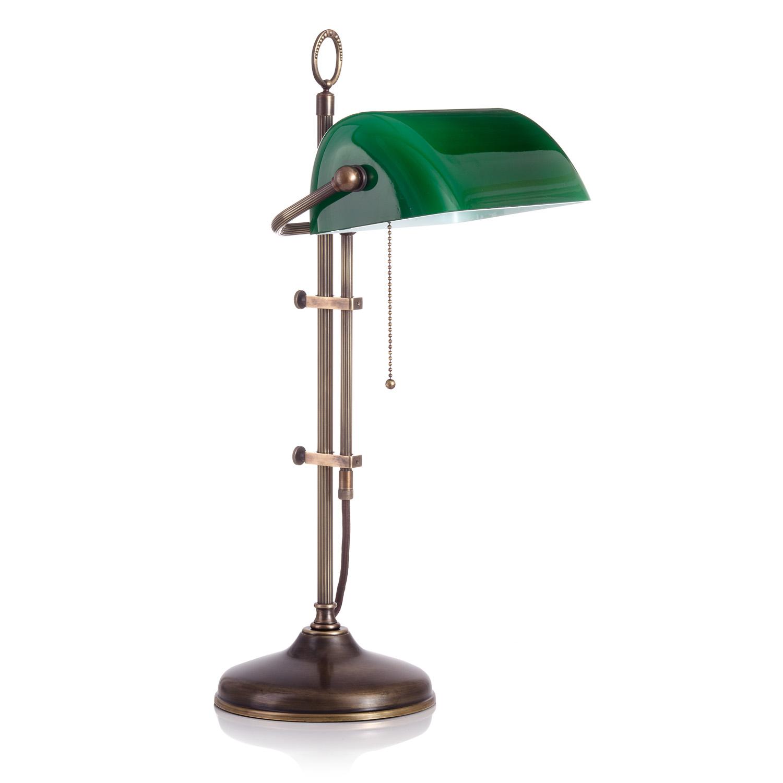 Original Bankerlampe T20S LX Antic, Glas: 9696 grün