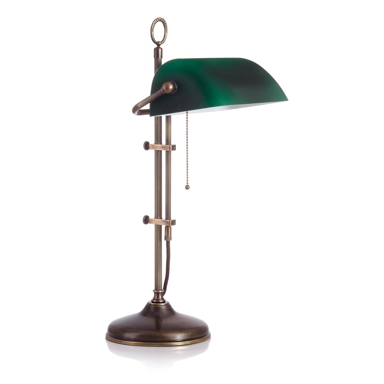 Original Bankerlampe T61S LX Antik, Glas: 9696 grün matt