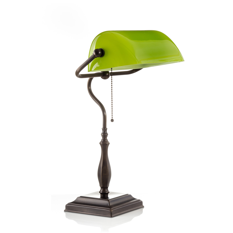 Original Bankerlampe T60 Antik, Glas: 9696 limone