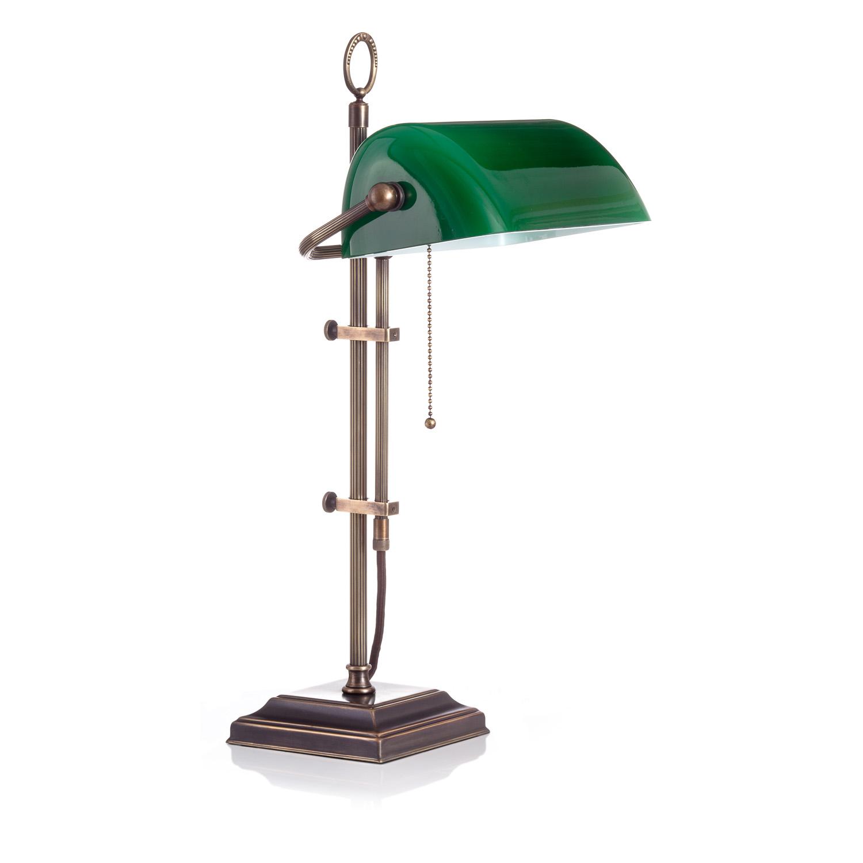 Original Bankerlampe T61S LX Rustik, Glas: 9696 grün