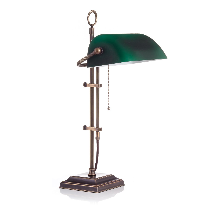 Original Bankerlampe T61S LX Rustik, Glas: 9696 grün matt